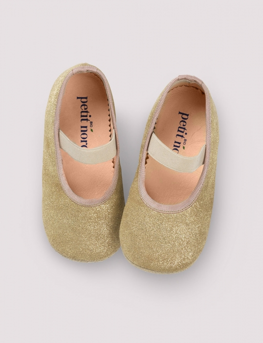 Ballerina Shoe w Elastic Gold Patinated 0