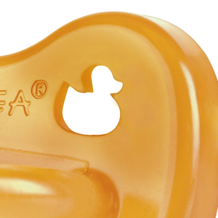 Duck Pacifier Symm - Natural 2