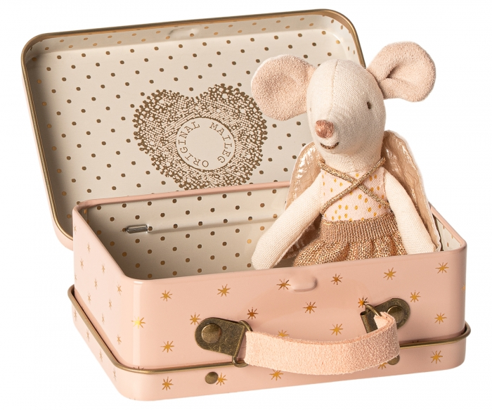 Guardian angel  in suitcase, little sister mouse 1