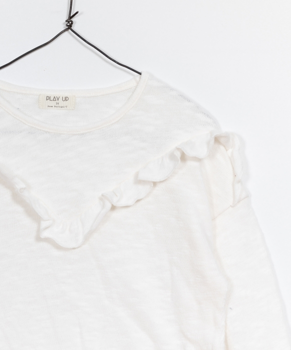Pulover jerseu bumbac organic alb 2