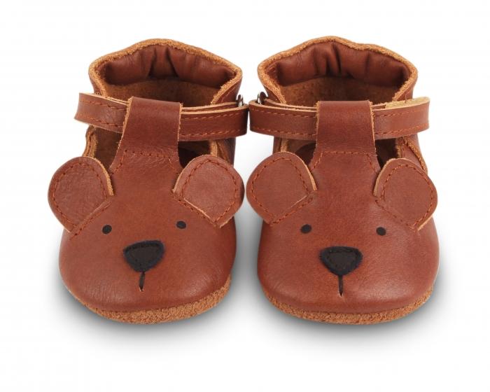 Pantofi din piele naturala, tip barefoot